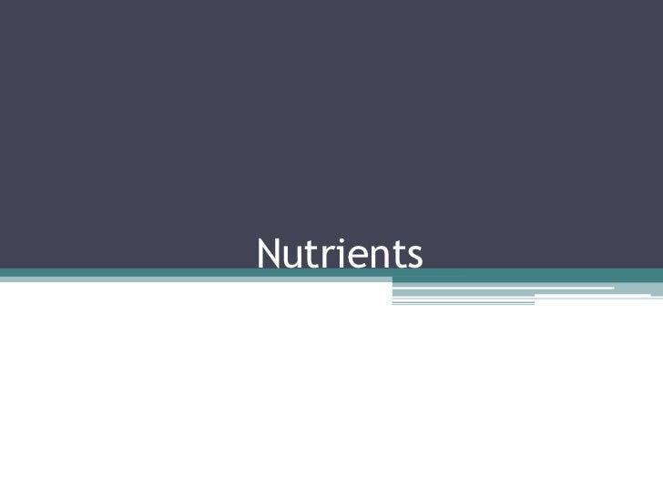 Nutrients<br />