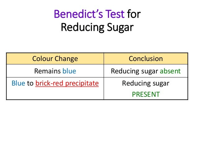 1 find amount reducing sugars and starch yelloe and green Diabetes urine test - benedict's the colour of the mixture serves as a guide to the amount of sugar in the urine : blue-sugar absent green-05% sugar yellow-1.