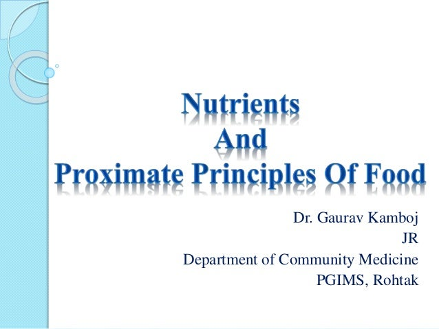 Nutrition, Macronutrients and Micronutrients and their