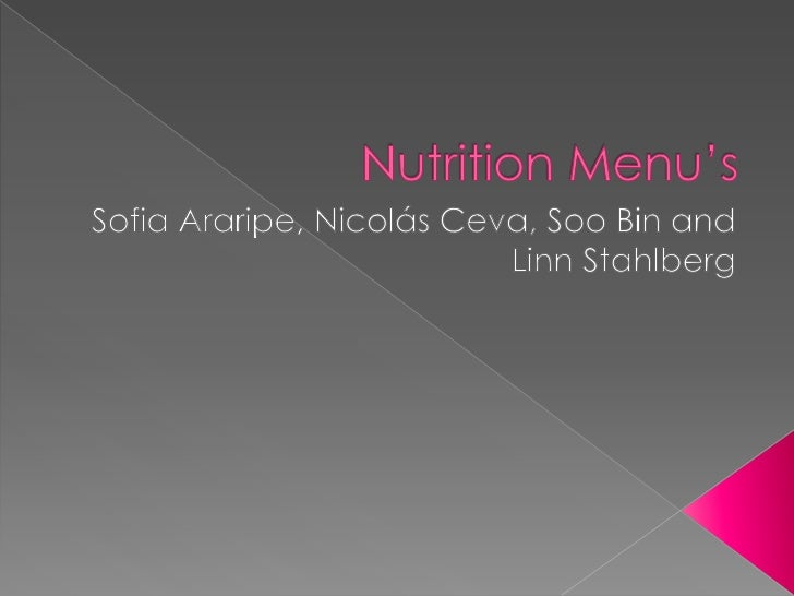 NutritionMenu's<br />Sofia Araripe, Nicolás Ceva, SooBin andLinnStahlberg<br />