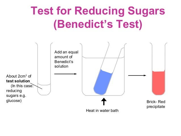 how to test for reducing sugars