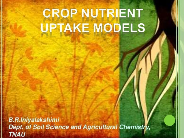 B.R.Iniyalakshimi Dept. of Soil Science and Agricultural Chemistry, TNAU