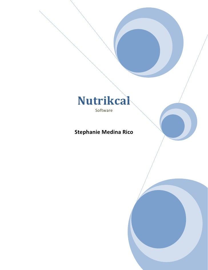 Nutrikcal       SoftwareStephanie Medina Rico