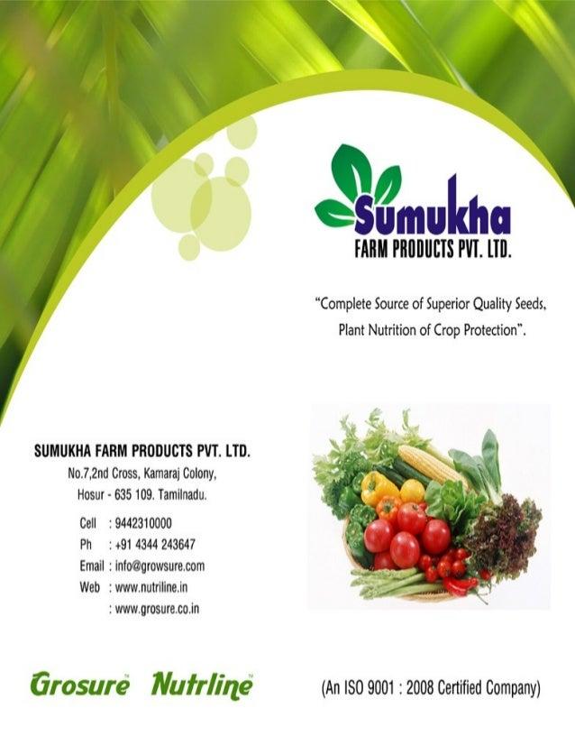 Sumukha Farm Products Pvt Ltd., Hosur, Vegetables Seeds & Fertilizers