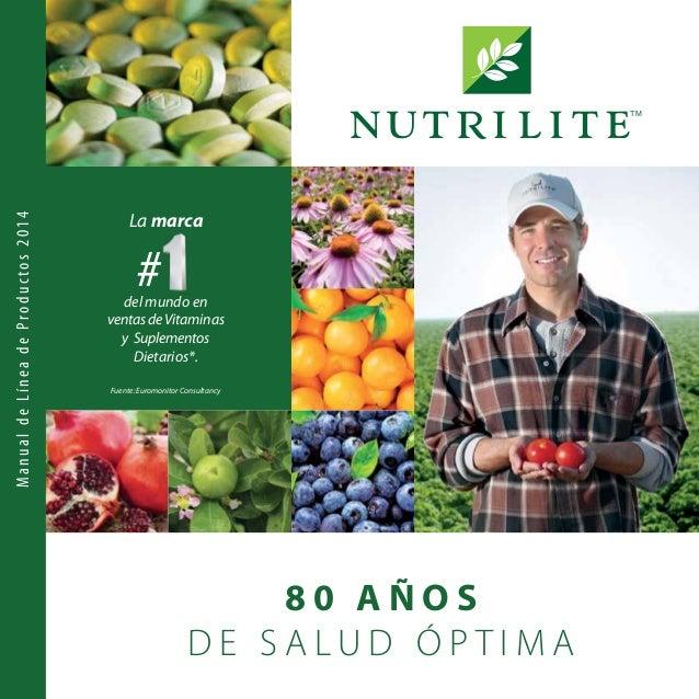 8 0 A Ñ O S D E S A L U D Ó P T I M A TM La marca #del mundo en ventasdeVitaminas y Suplementos Dietarios*. ManualdeLínead...