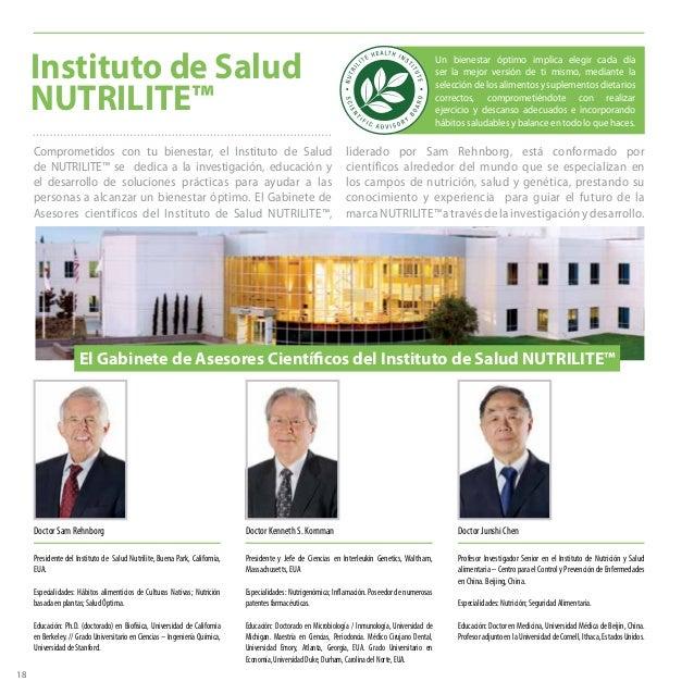 Instituto de Salud NUTRILITE™ Doctor Junshi Chen Profesor Investigador Senior en el Instituto de Nutrición y Salud aliment...