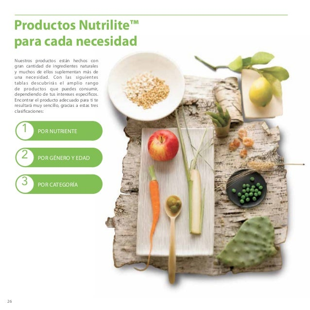 26 Nuestros productos están hechos con gran cantidad de ingredientes naturales y muchos de ellos suplementan más de una ne...