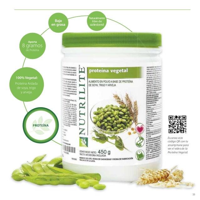 33 PROTEÍNA Aporta 8 gramos de Proteína Proteína Aislada de soya, trigo y arveja. 100% Vegetal: Naturalmente libre de cole...
