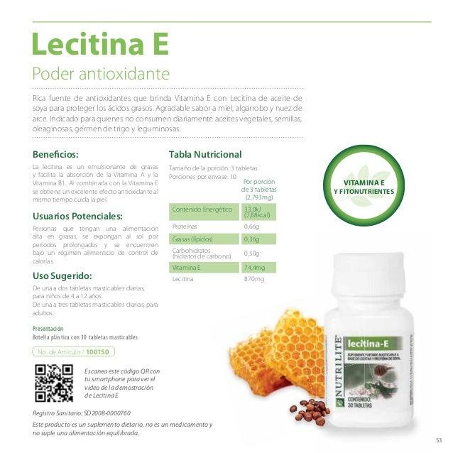 53 Poder antioxidante Beneficios: De una a dos tabletas masticables diarias, para niños de 4 a 12 años. De una a tres tabl...