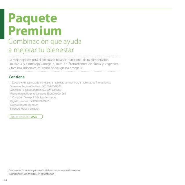 56 • 1 Double X: 61 tabletas de minerales, 61 tabletas de vitaminas, 61 tabletas de fitonutrientes  Vitaminas Registro Sa...