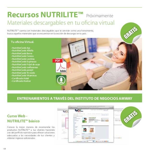 68 Tu oficina Virtual. • NutriliteCards Ajo • NutriliteCards Alfalfa • NutriliteCards Berro • NutriliteCards Cereza • Nutr...