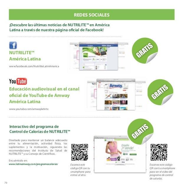 70 NUTRILITE™ América Latina www.facebook.com/NutriliteLatinAmerica REDES SOCIALES ¡Descubre las últimas noticias de NUTRI...