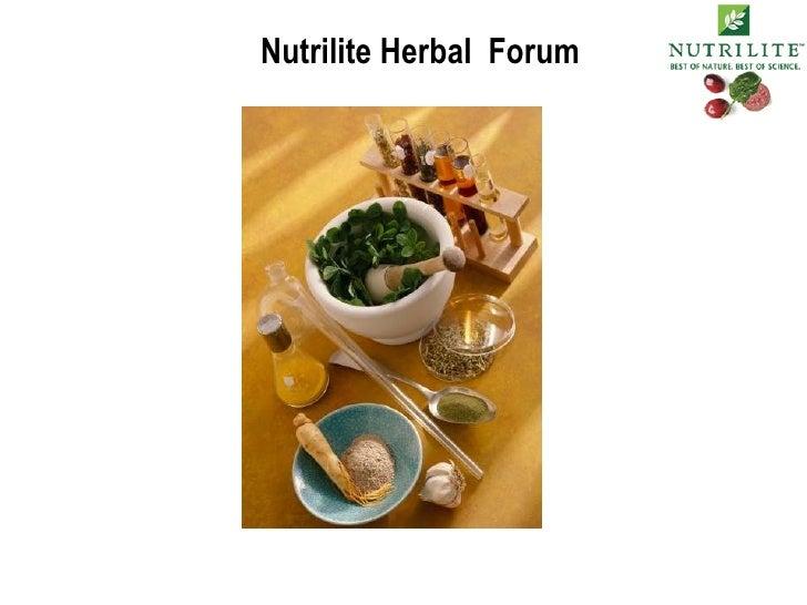 Nutrilite Herbal  Forum