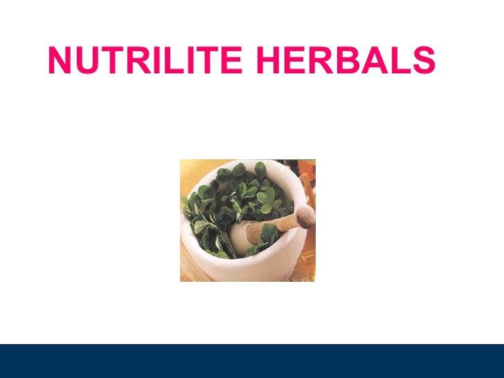Agenda NUTRILITE HERBALS