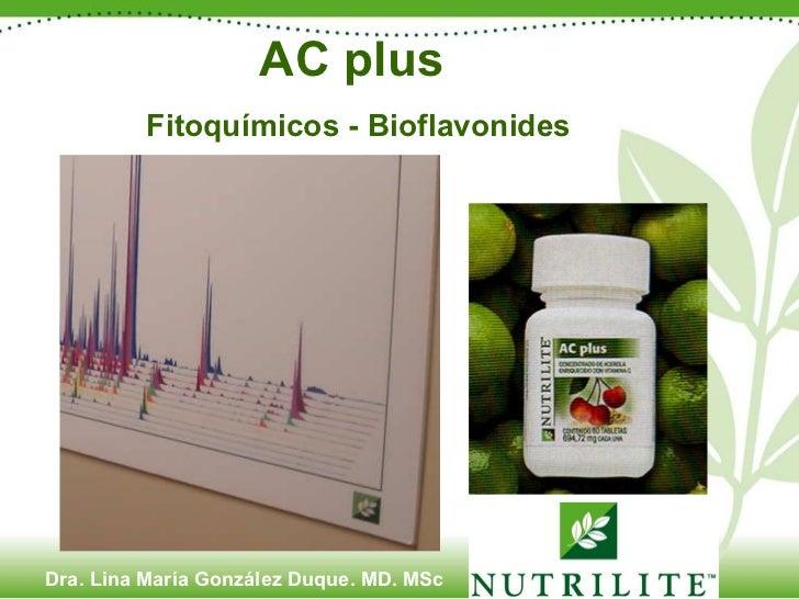 AC plus  Fitoquímicos - Bioflavonides Dra. Lina María González Duque. MD. MSc