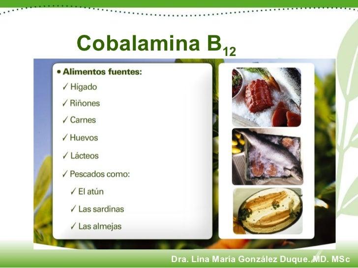 Cobalamina B 12 Dra. Lina María González Duque. MD. MSc