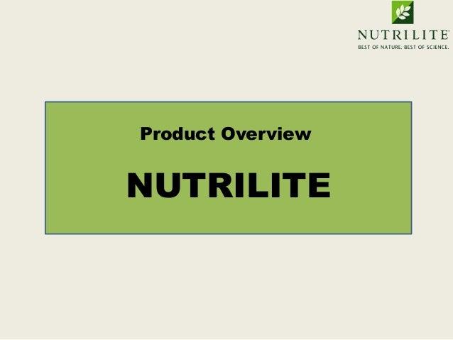 Product OverviewNUTRILITE