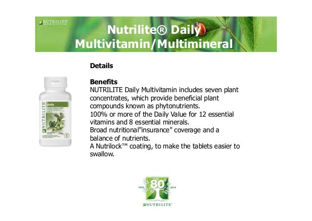 benefits of nutrilite daily multivitamin