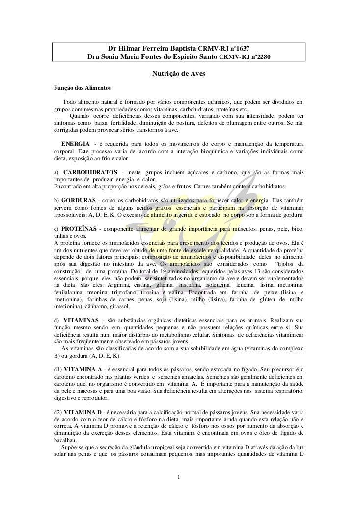 Dr Hilmar Ferreira Baptista CRMV-RJ nº1637              Dra Sonia Maria Fontes do Espirito Santo CRMV-RJ nº2280           ...