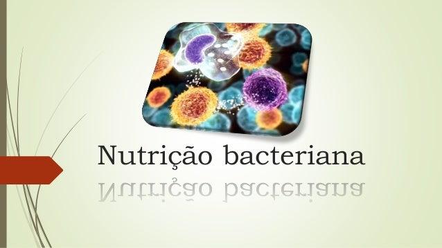 Nutrição bacteriana