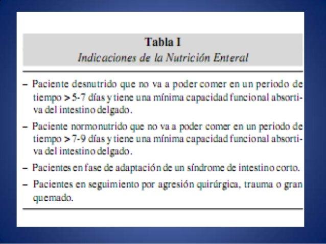 Nutrición Enteral Temprana • Beneficios:  Disminución de la respuesta hipercatabólica  Menor translocación bacteriana  ...