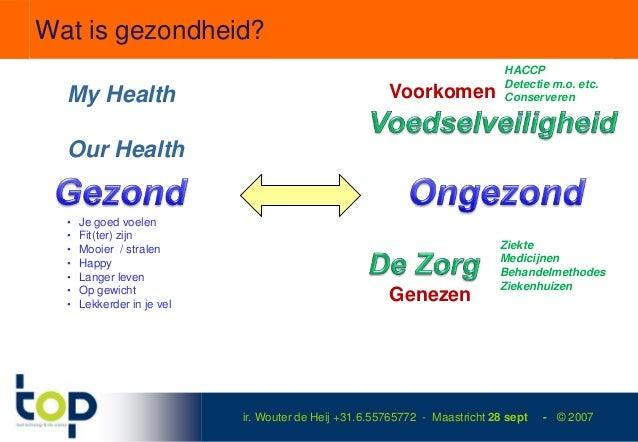 Wat is gezondheid?                                                                             HACCP                      ...