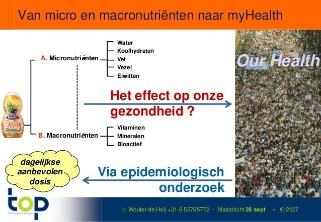 Van micro en macronutriënten naar myHealth                           Water                           Koolhydraten     A. M...