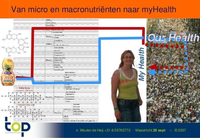 Van micro en macronutriënten naar myHealth                                                                 Our Health     ...