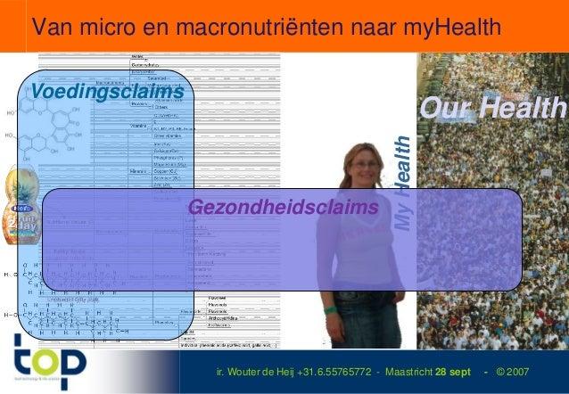Van micro en macronutriënten naar myHealthVoedingsclaims                                                                  ...