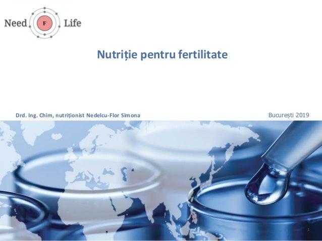 Nutriție pentru fertilitate 1 București 2019Drd. Ing. Chim, nutriționist Nedelcu-Flor Simona