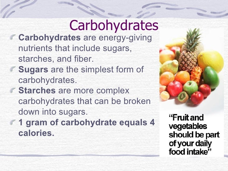 Foods High In Carbs And Calories And Protein