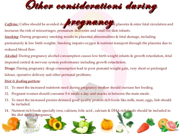 Nutrition during pregnancy and lactation