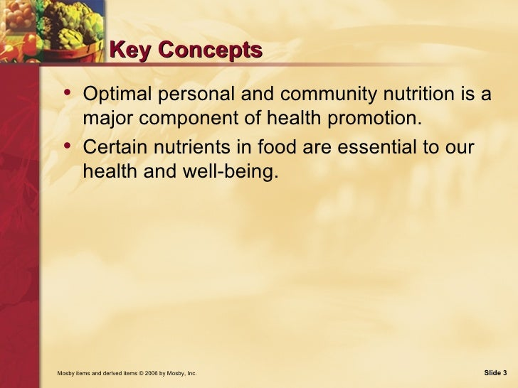 Nutrition: Food, Nutrition and Health Slide 3