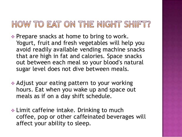 Nutrition For Night Shift Workers