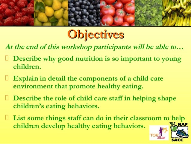 nutrition for young children workshop powerpoint updated dec 2011