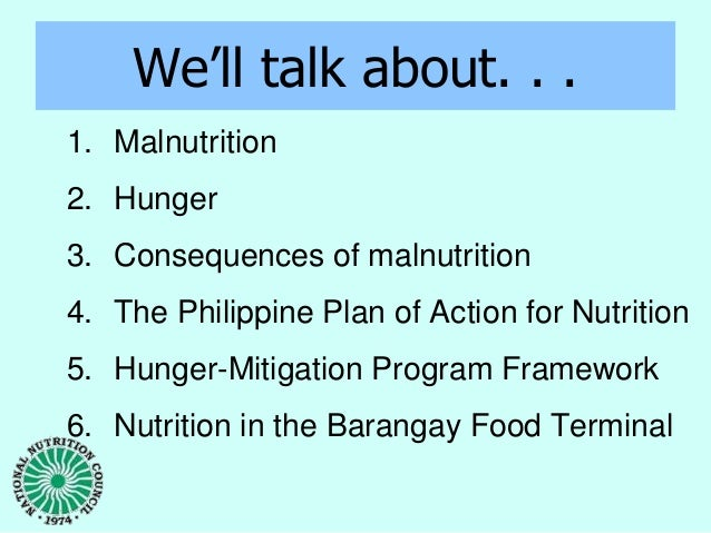 the philippines national nutrition council celebrates The philippines celebrates the month of july as the nutrition month, for the year 2013, the department of education and the national nutrition council leads the country in the celebration increase awareness on hunger issues and actions to mitigate hunger encourage government agencies, ngos.