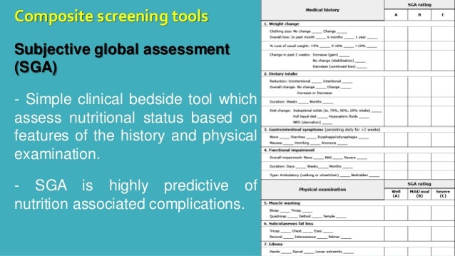 Nutritional Status Assessment in Adults Technique