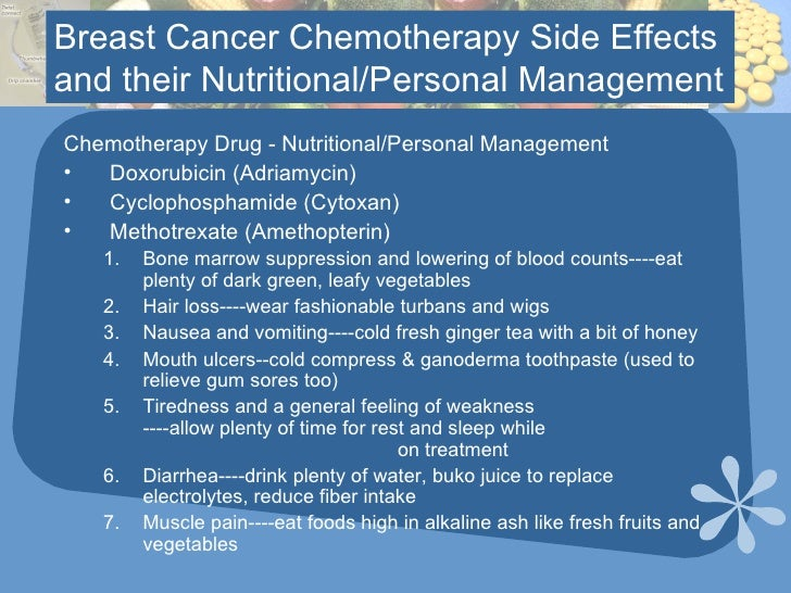 Cytoxan Chemotherapy Side Effects