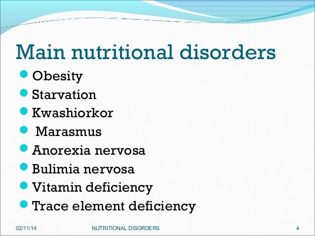 Nutritional dissorders