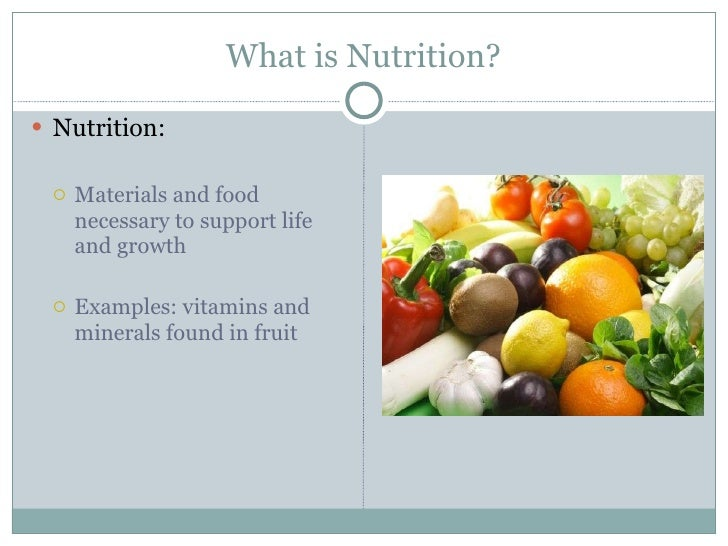 examples of nutrients