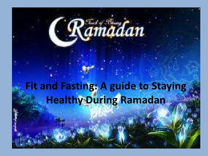 nutrition and exercise during ramadan, Powerpoint templates