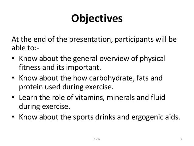 Nutrition and fitness Slide 2