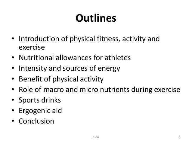 Nutrition and fitness Slide 3