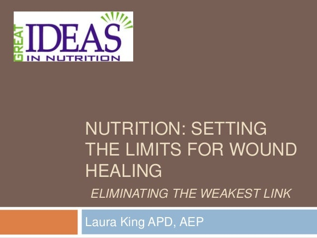 nutrition and wound healing