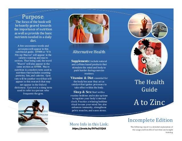 nutrition brochure a to zinc