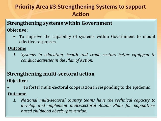 Preventing disease, promoting and protecting health Strengthening systems within Government Objective: • To improve the ca...