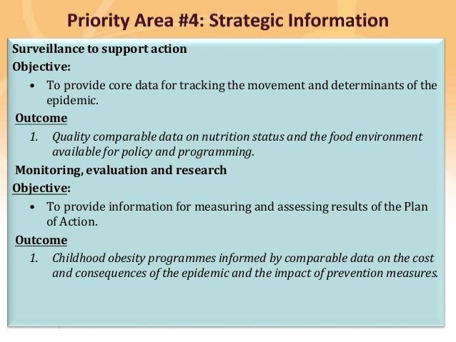 Preventing disease, promoting and protecting health Surveillance to support action Objective: • To provide core data for t...
