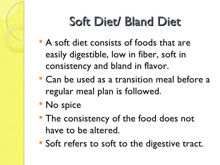 List Of Soft Fiber Foods