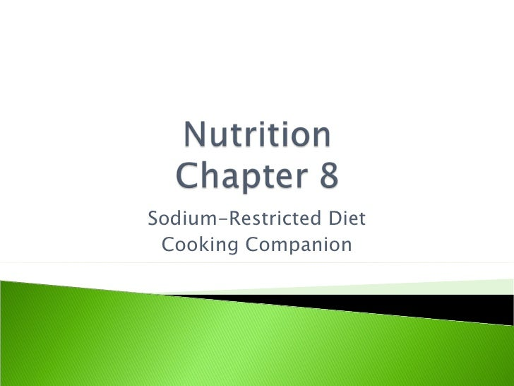Sodium-Restricted Diet Cooking Companion