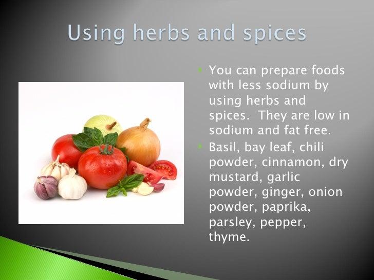 sodium restricted diet foods